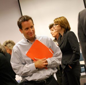 Leigh Greden at the recount. (Photo, Ann Arbor Chronicle)