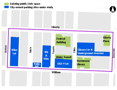 Map of the area DDA is planning under Connecting William Street process