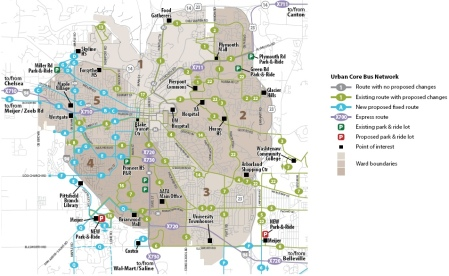 Proposed enhancements for Ann Arbor area. Click for larger image.