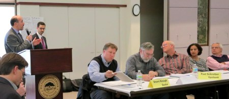 Urban Core meeting of March 22, 2013. L to R: Daniel Cherrin & colleague from Dispute Resolution center; Shawn Keough, Dexter; Peter Murdock, City of Ypsilanti; Paul Schreiber, Mayor of Ypsilanti; Mandy Grewal, Supervisor, Pittsfield Township; Spaulding Clark, Supervisor, Scio Township